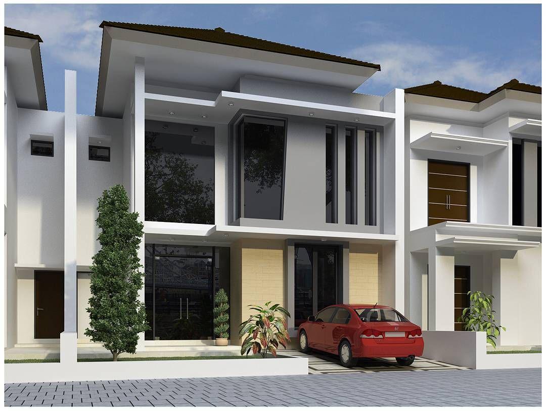 Desain Rumah Minimalis 2 Lantai Type 45 Terbaru Dengan Pintu Kaca Dan Penataan Jendela Yang Keren Rumah Minimalis Desain Rumah Rumah