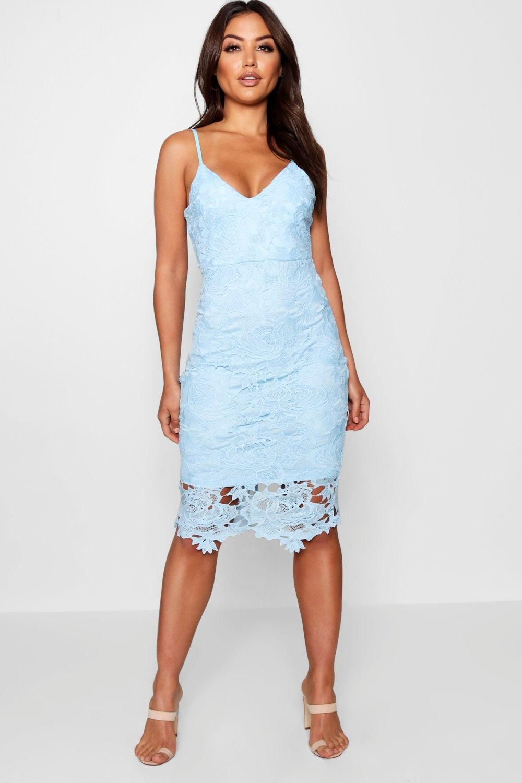 Boutique Crochet Lace Strappy Midi Dress Boohoo In 2020 Midi Dress Blue Midi Dress Strappy Midi Dress [ 1500 x 1000 Pixel ]