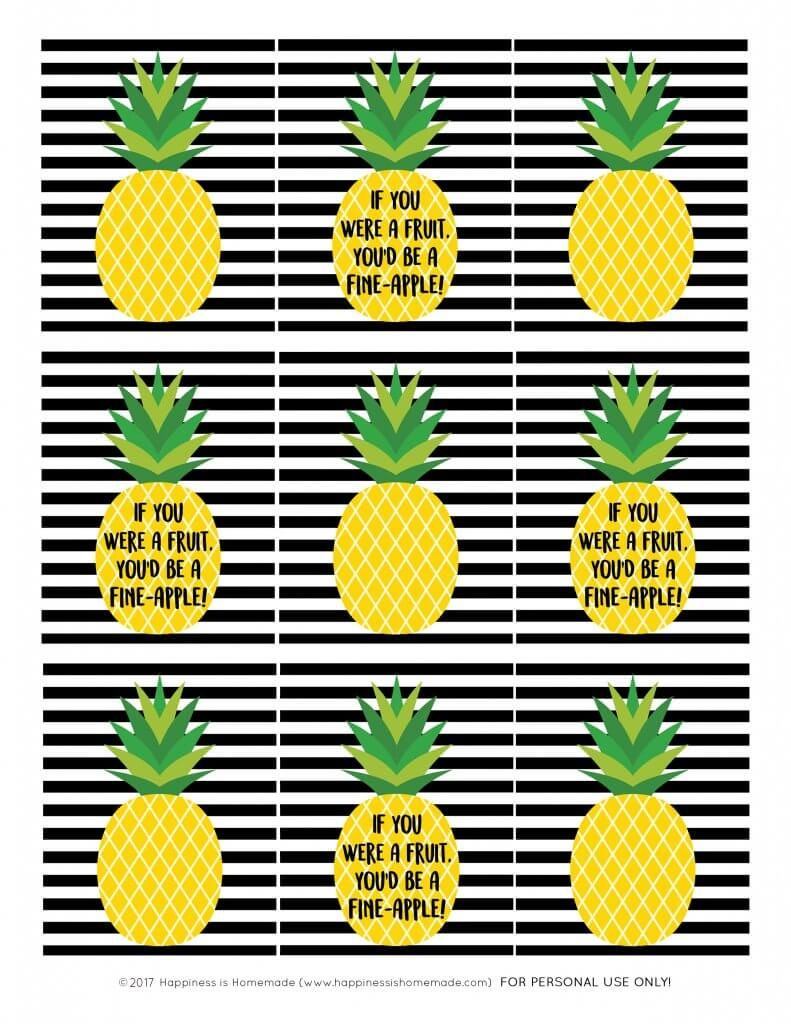 photograph relating to Free Printable Pineapple identify Totally free printable reward tags - pineapple present tags Printable