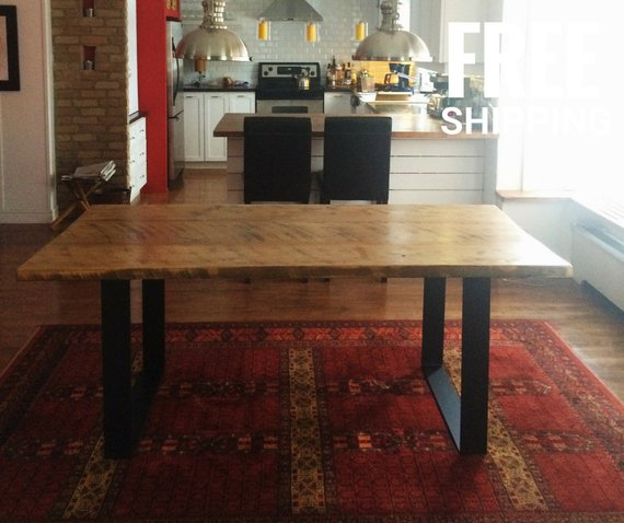 Wooden Dining Table, Natural Wood Table