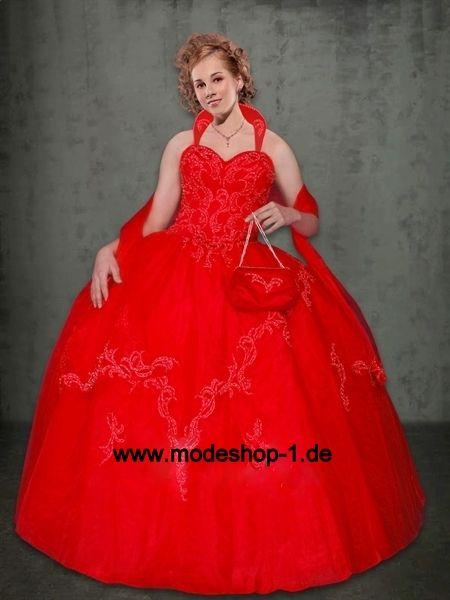 Rotes Sisi Abendkleid Ballkleid www.modeshop-1.de ...