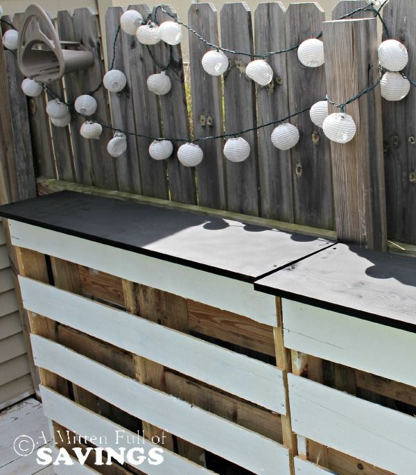 DIY Patio Bar Made Out Of Wood Pallets | Http://www.amittenfullofsavings