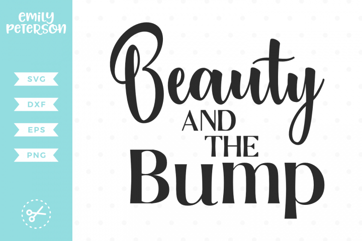 Download Beauty And The Bump Svg Dxf Eps Png Svg Dxf Silhouette Design Studio