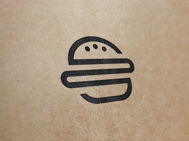 burger logo design - Buscar con Google
