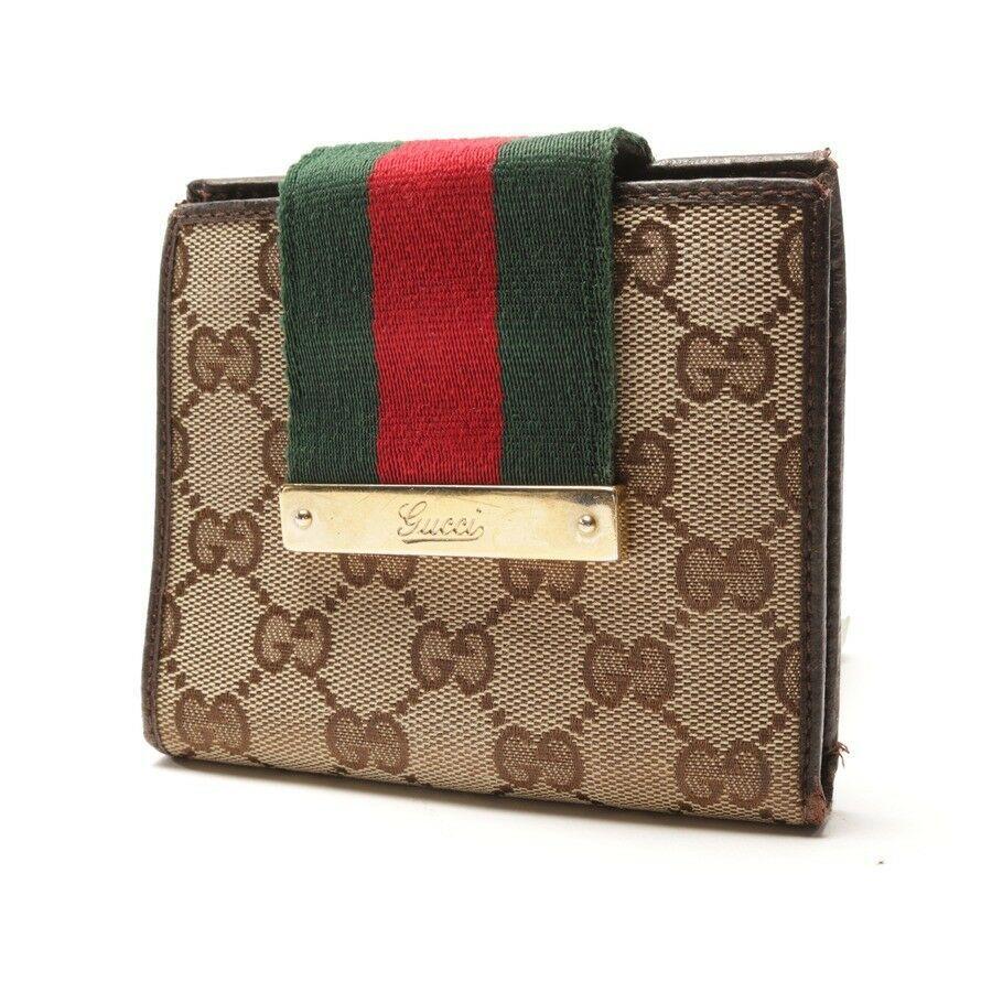 6017b6777ffd9 GUCCI Geldbörse Beige Braun Damen Accessoire Portemonnaie Wallet Purse Etui