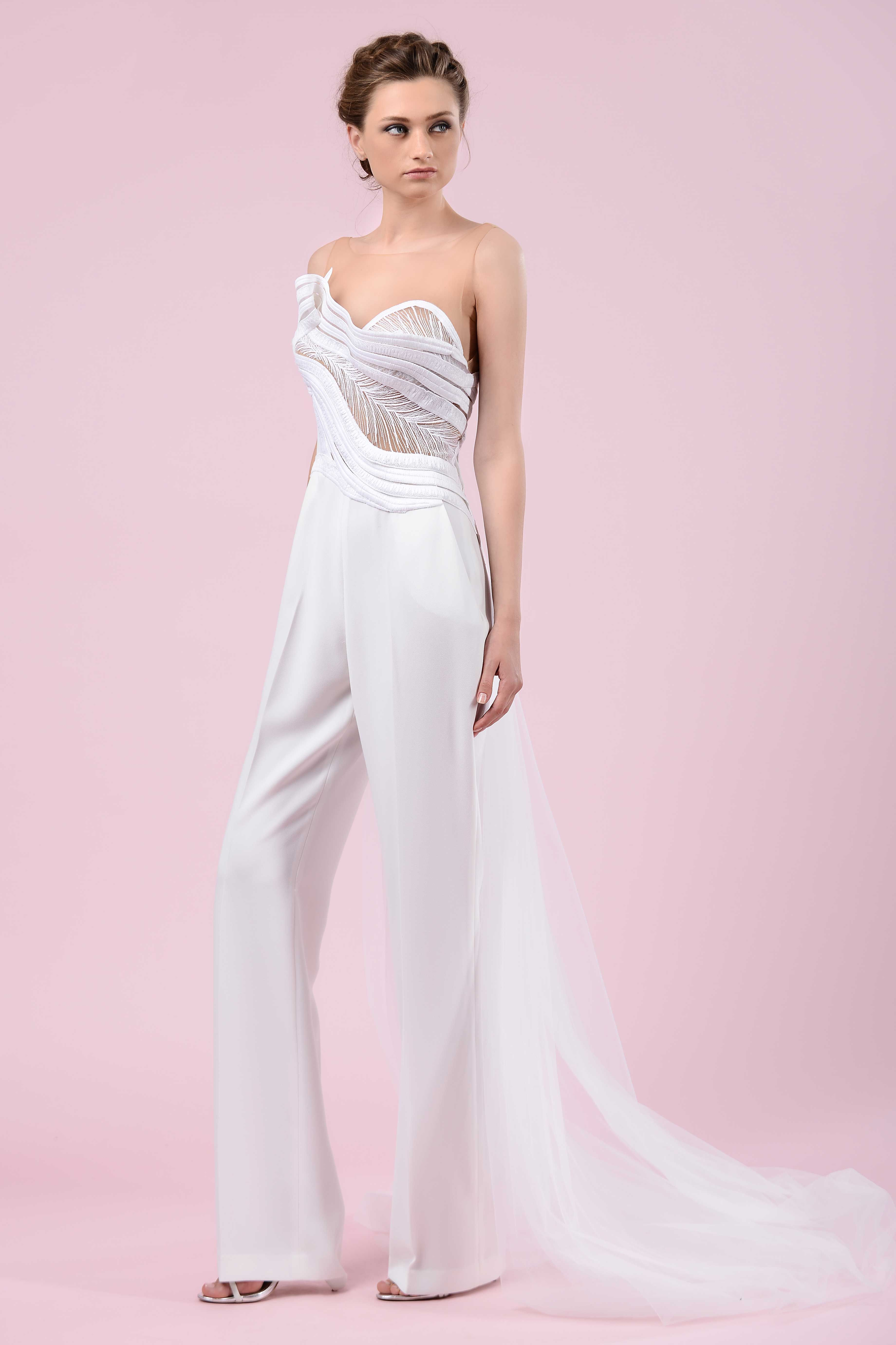 2496bc16c62 Architectural Jumpsuit by Gemy Maalouf