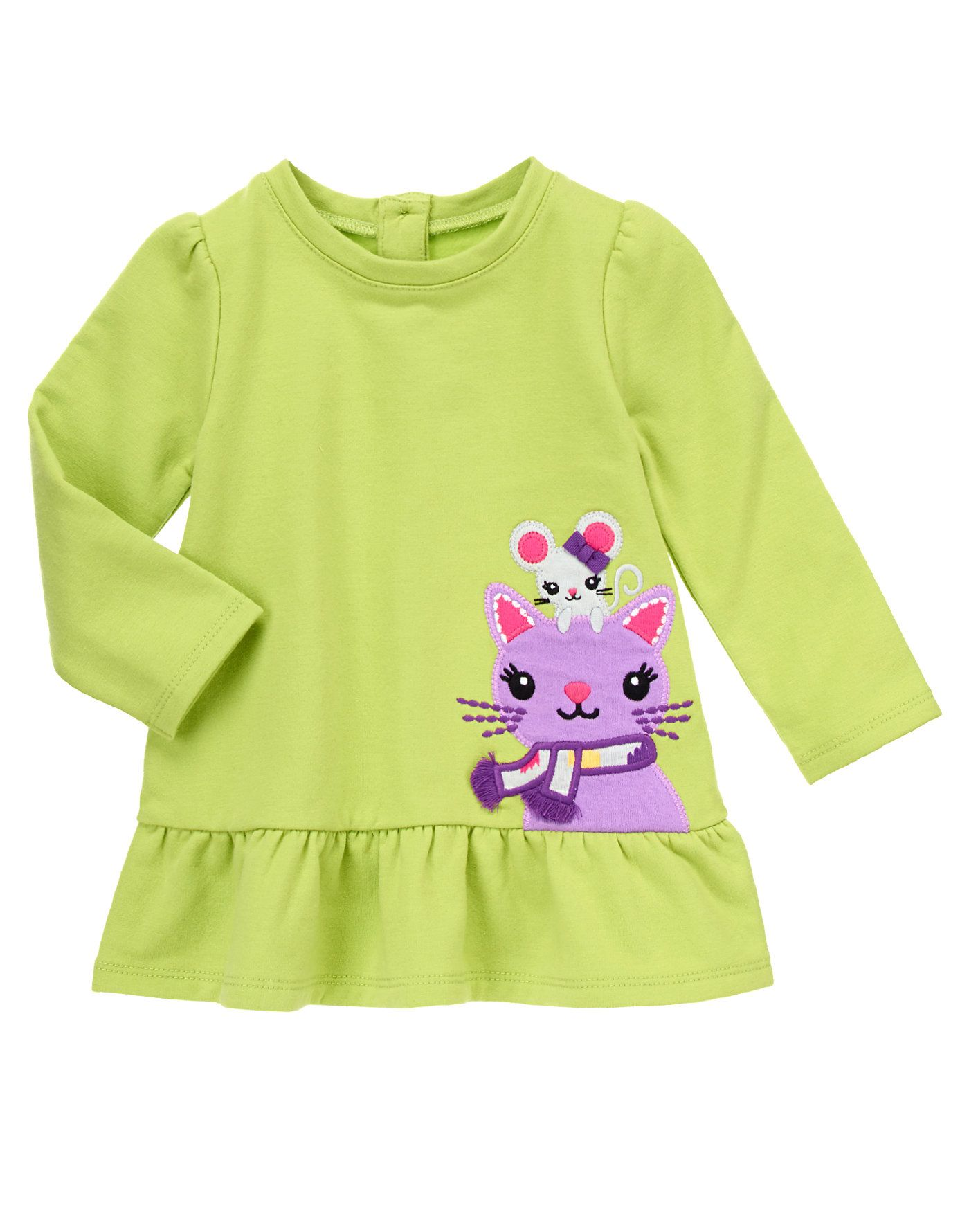 c88da8259bdd Supremely soft and cozy French terry fleece top features cute mouse ...