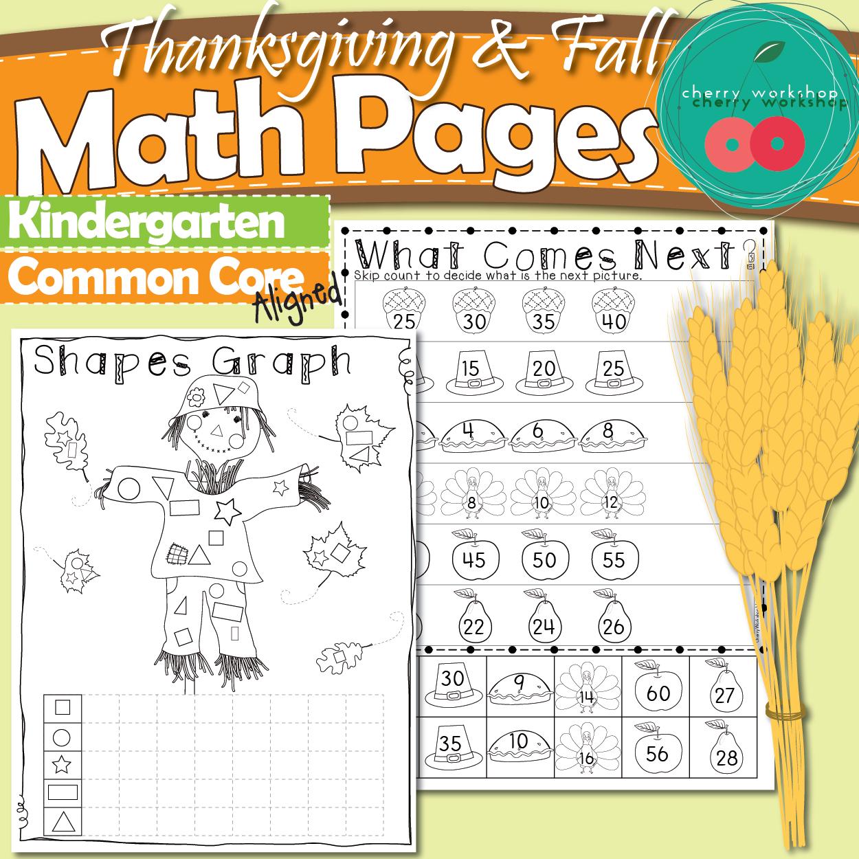 Thanksgiving Activities For Kindergarten Thanksgiving Math Math