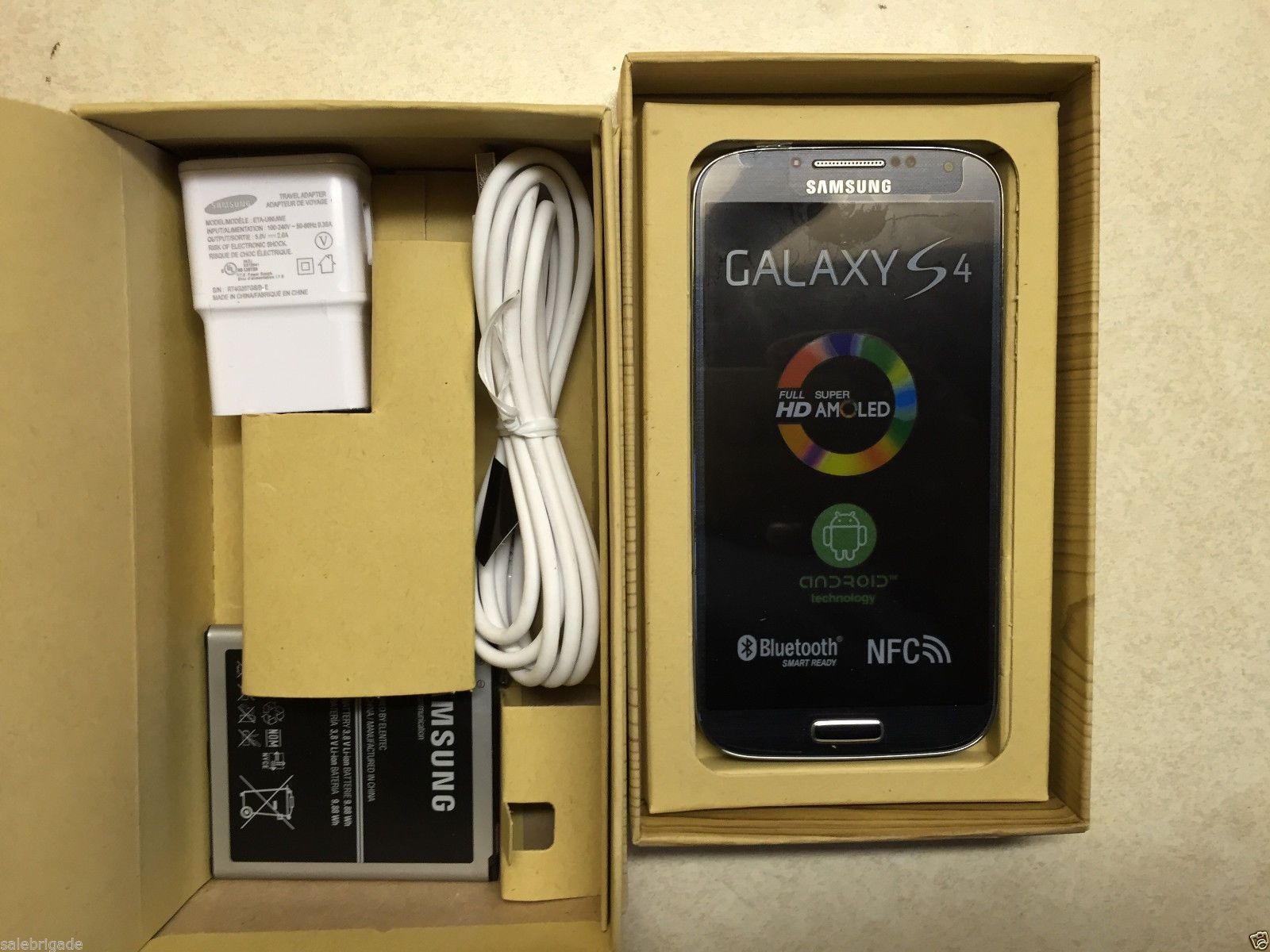 NEW in BOX SAMSUNG GALAXY S4 SGH- I337 16GB BLACK MIST AT&T