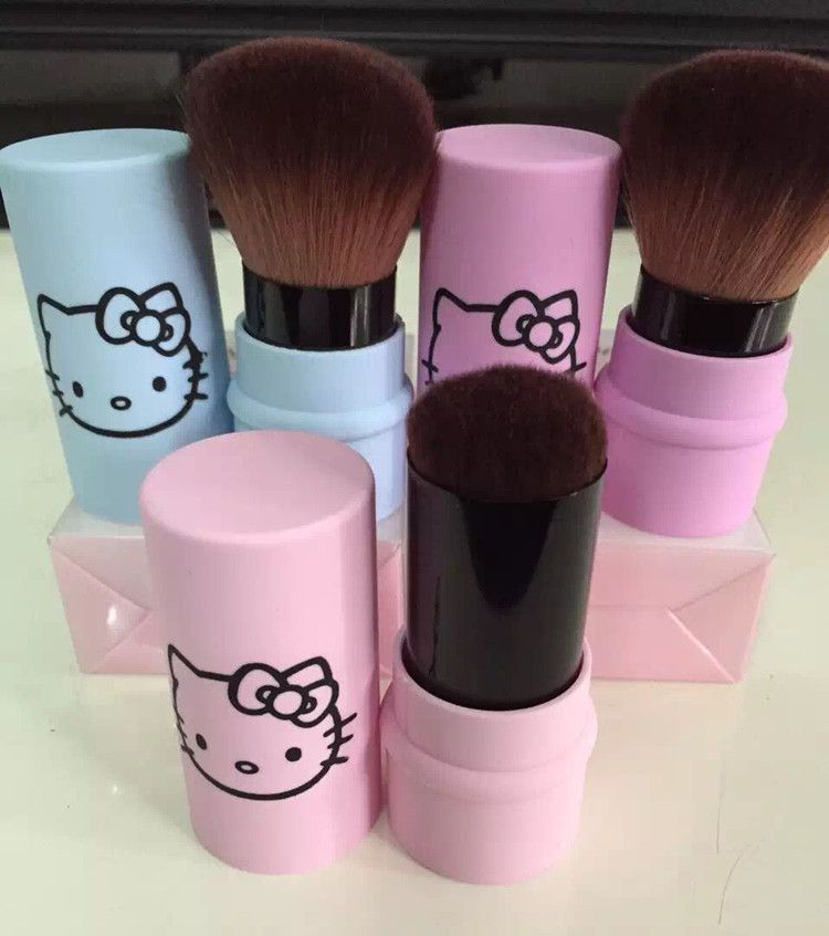 Carino hello kitty singolo pacchetto cheek brush dome brush powder blush spazzola di trucco unico logo pacchetto regalo