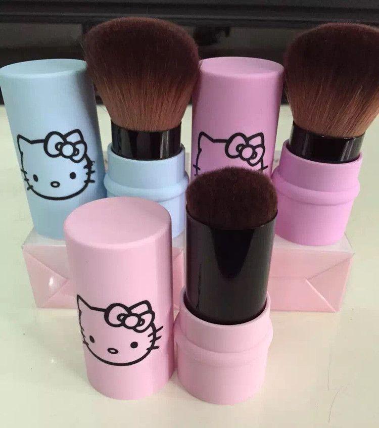 Carino hello kitty singolo pacchetto cheek brush dome brush powder blush spazzola di trucco unico logo pacchetto regalo