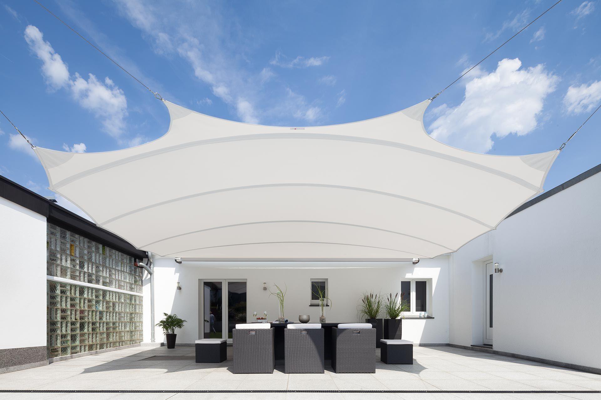 square4sun line von C4sun: High-End Sonnensegel für Haus, Garten und ...