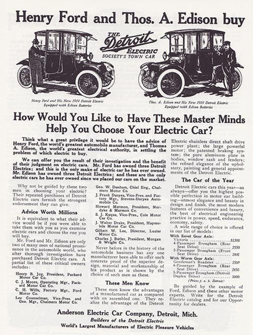 1918 Detroit Electric Model 75 Detroit Electric Produced