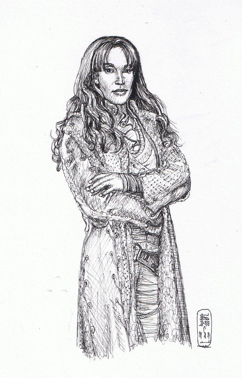 Teyla Pen Sketch by *MyWorld1 DeviantArt