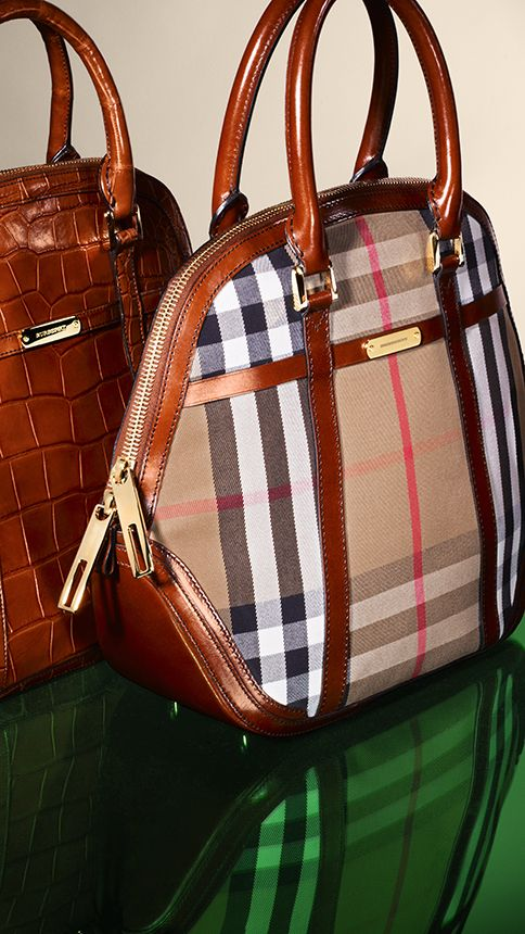 The iconic Orchard bag in rich amber and classic House check with leather  trim aed40c41ee798