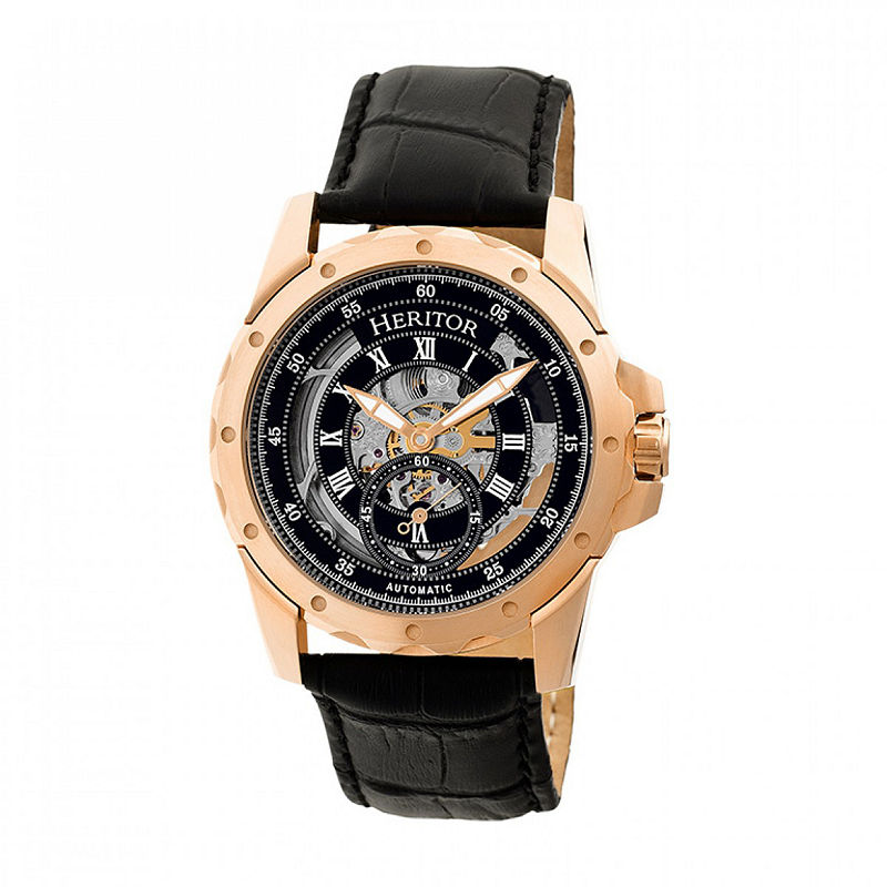 4206583aa Heritor Armstrong Mens Black Strap Watch-Herhr3406   Products ...