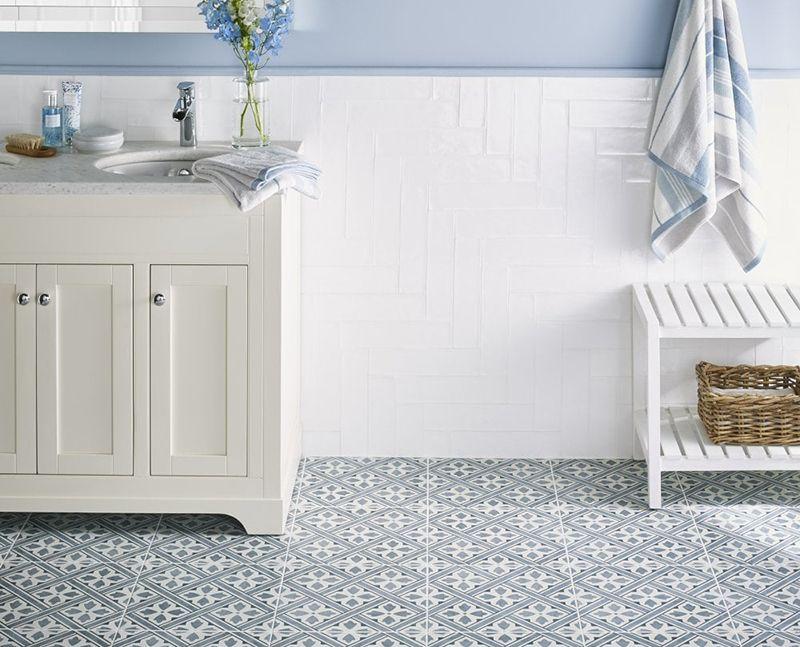 Dmj Grey 33x33 Patterned Porcelain Floor Or Wall Tile Laura Ashley Bathroom Tiles Laura Ashley Mr Jones Laura Ashley Bathroom