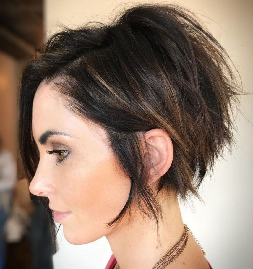 35 Pretty Pixie Haircuts For Thick Hair In 2019 With Hairstyle Pixie Haircut For Thick Hair Thick Hair Styles Short Hair With Layers