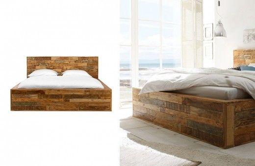 Holzbett massiv 180x200  Bett Quadrat 180x200 Palisander Mosaik massiv Holz lackiert Möbel ...
