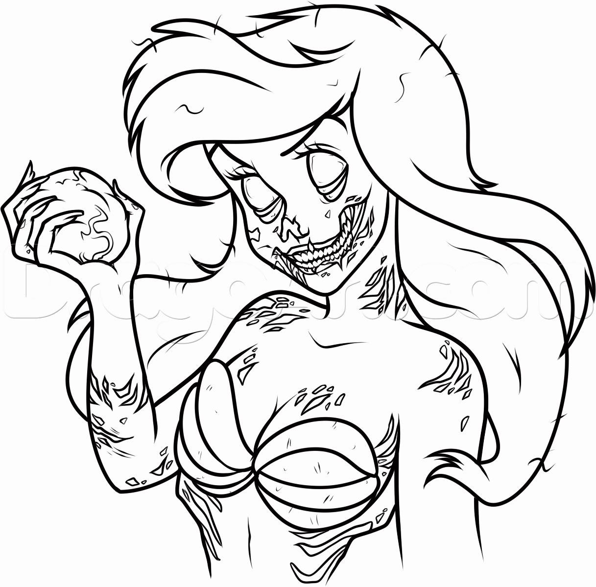 Dark Disney Coloring Book in 2020 (With images)   Zombie ...