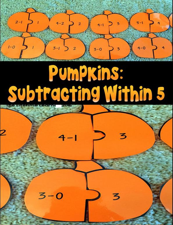 Subtraction Puzzles Halloween Math Halloween subtraction