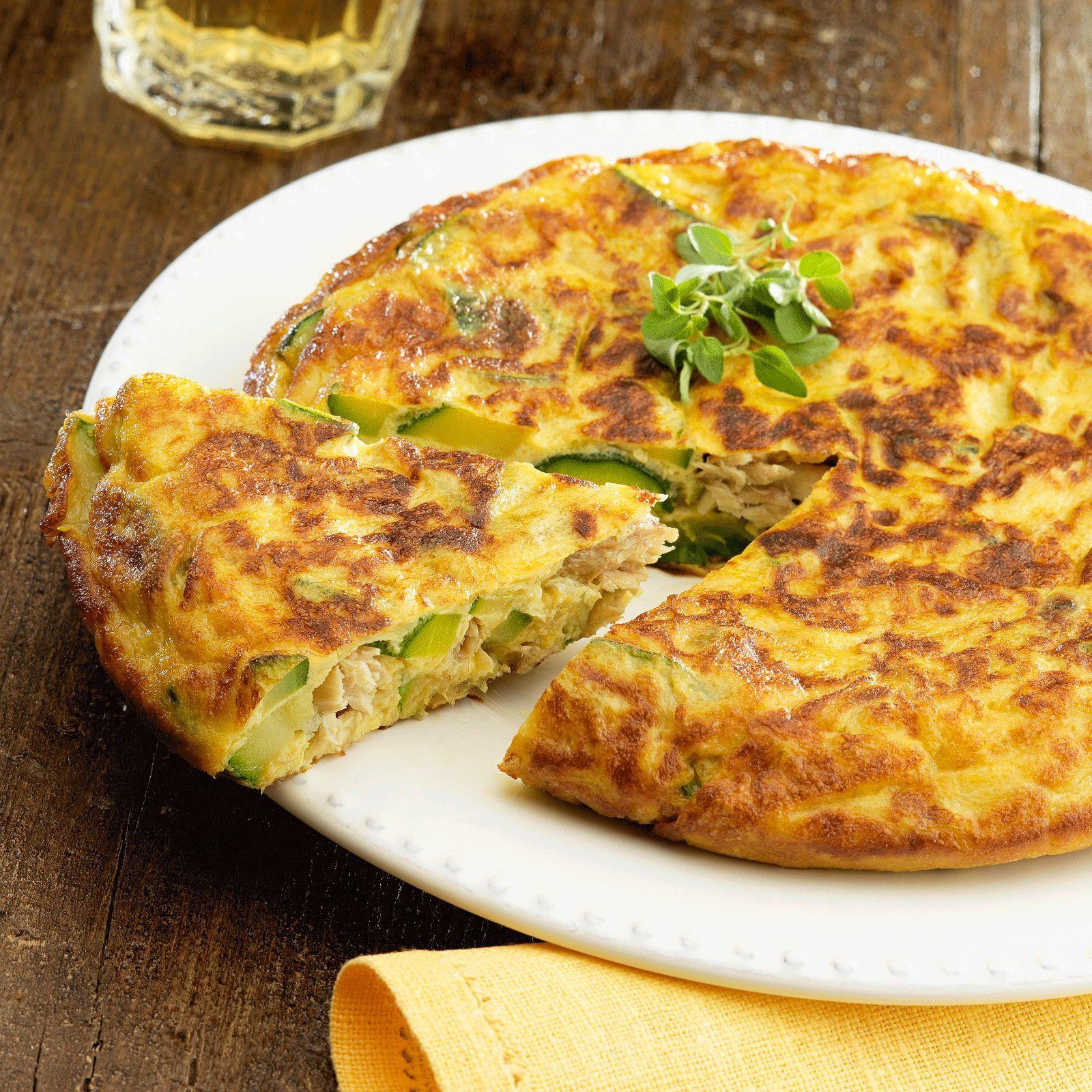 Tortilla espagnole au thon et aux courgettes recette - La cuisine en espagnol ...