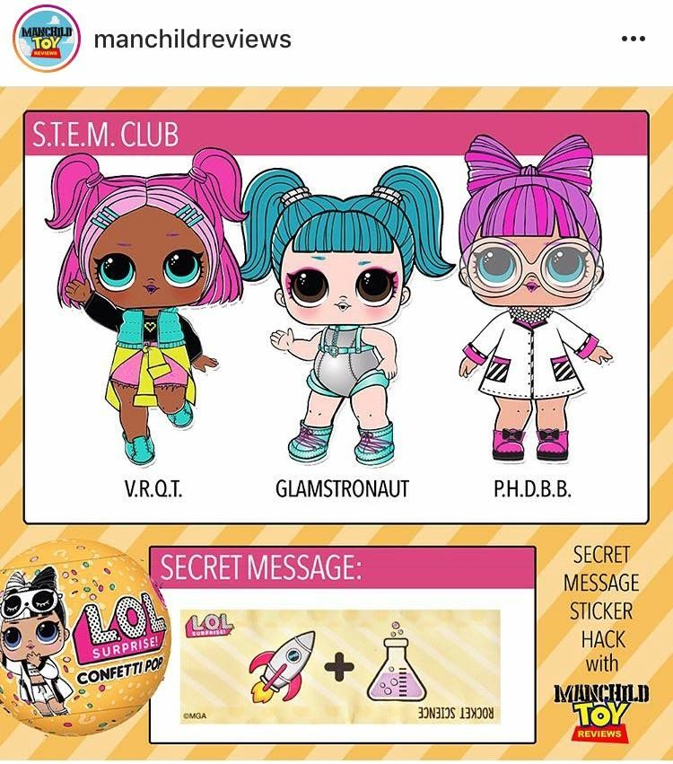 Secret Message Sticker Hack For The New Confetti Collection Wave 2 Lol Surprise Dolls You Re Welcome Lol Dolls Cute Drawings Dolls