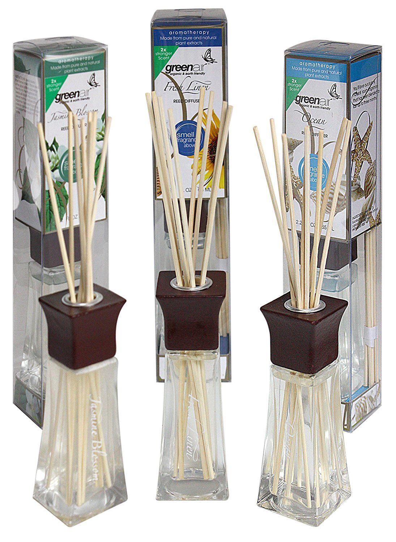 Greenair all natural reed diffuser set of 3 ocean