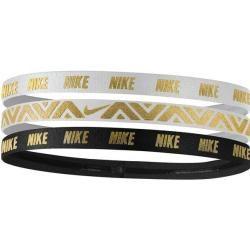 Nike Damen Haarband Metallic Hairbands 3 Pack, Größe - in 088 gunsmoke/habanero red/navy, Größe - in