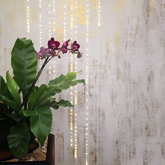 Golden Resistance LED Wallpaper by Meystyle. Conductivity Collection. Meystyle specialise in wall coverings with the added feature of integrated LED lights.