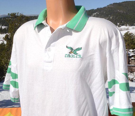 90s vintage polo golf shirt philadelphia EAGLES nfl football XL Large 80s  soft 711ef2c2c