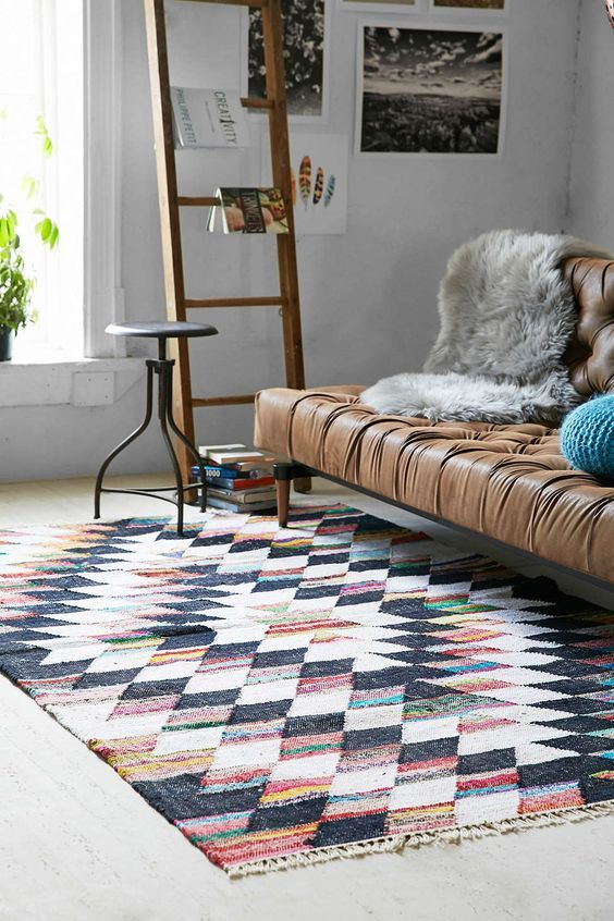 Shop Woven Diamond Kilim Rug At Urban Outfitters Today.