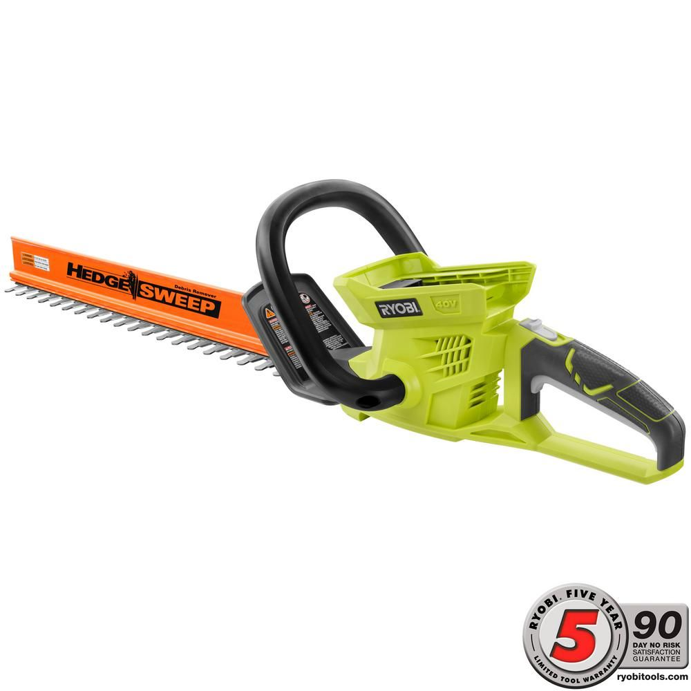 Ryobi 24 In 40 Volt Lithium Ion Cordless Battery Hedge Trimmer Tool Only Ry40601b Hedges Lawn Care Outdoor Power Equipment