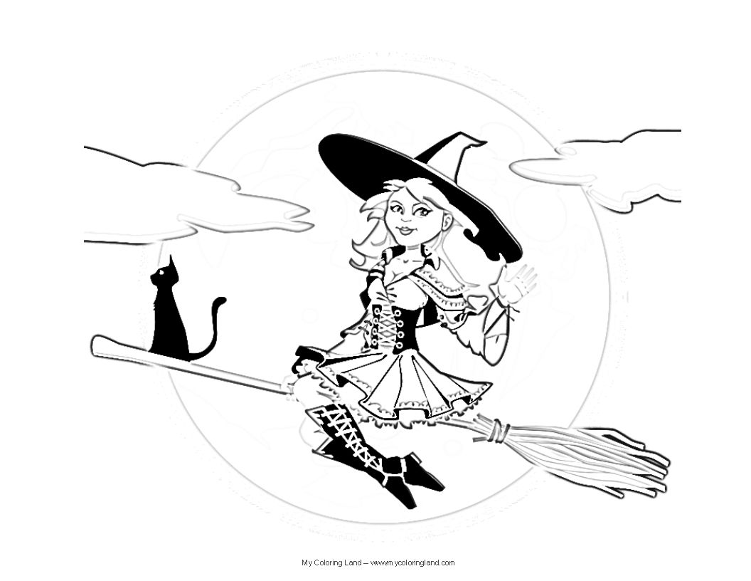 it is a known fact witches love to dance so e have two colorong pages kids colouringcoloring pagesscary - Scary Colouring Pages 2