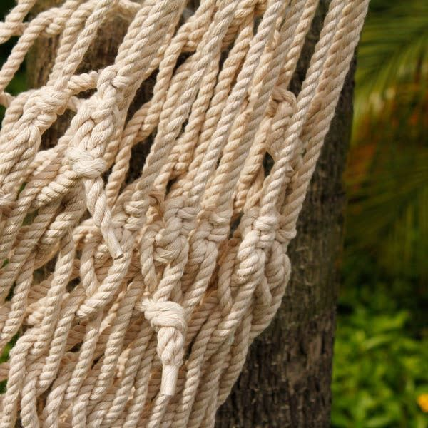 Shop Beige Cotton Rope Hanging Air/ Sky Chair Swing - On Sale - Overstock - 14780982