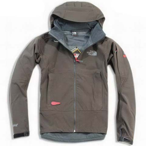 Mens The North Face Recco Fleece Brown