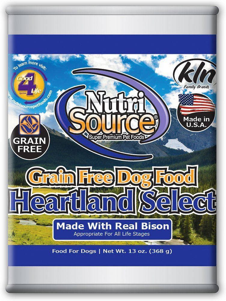 Nutrisource grain free canned heartland dog food case of