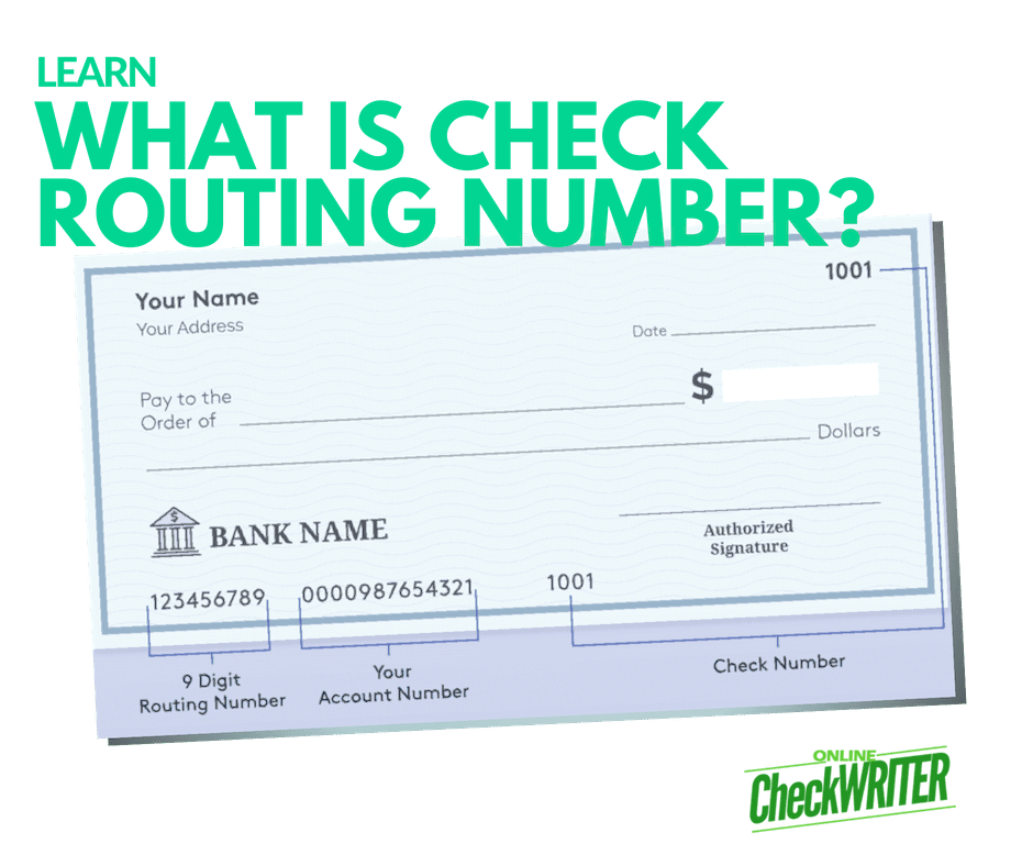 What Is Check Routing Number Or Aba Number It Is A 9 Digit Number Business Checks Online Checks Printing Software