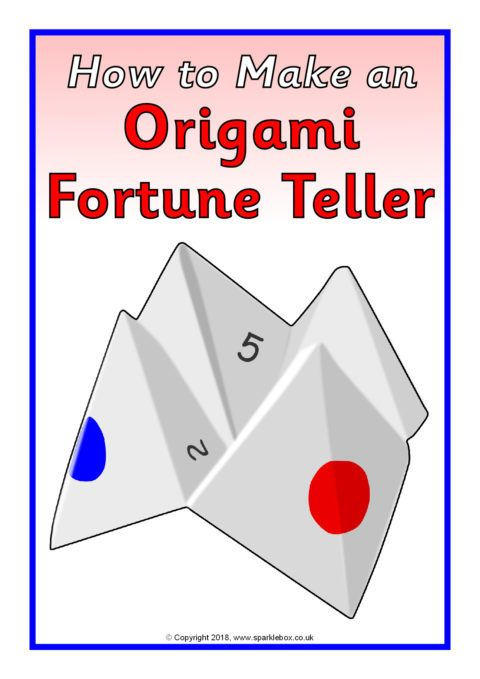 How To Make A Paper Fortune Teller Instructions Sb12404