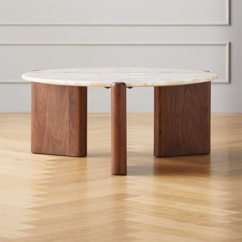 Santoro white quartz coffee table reviews cb2 coffee