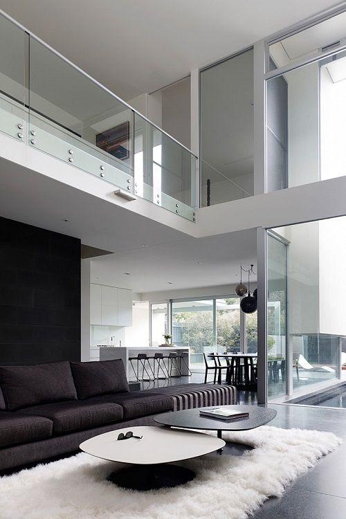 Ad astra per aspera Luxus Pinterest Design, Minimalhaus und - wohnzimmer design schwarz