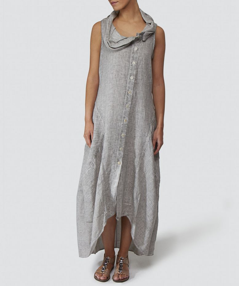 At Jules Dress Available Mujer B Marled Grizas Vestidos Linen EqwTnIgX
