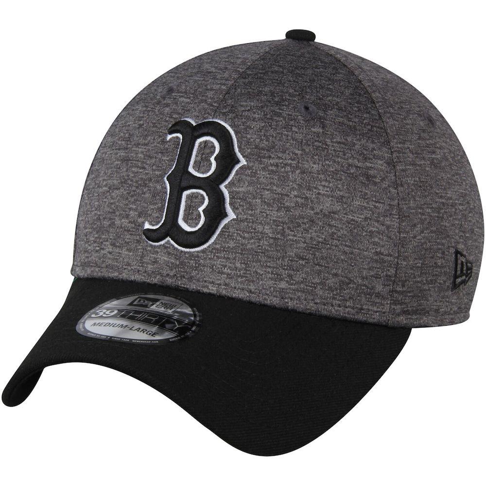 Men S New Era Heathered Gray Black Boston Red Sox Shadow Tech