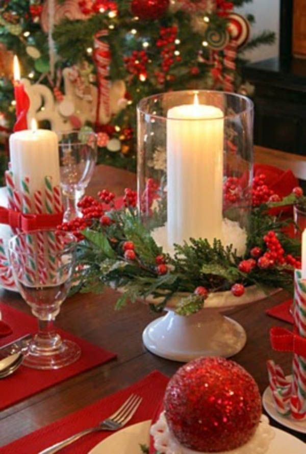 35 Festive Christmas Candle Centerpiece Ideas