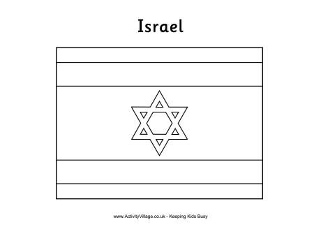 Olympic Flag Coloring Pages Israeli Flag Israel Flag