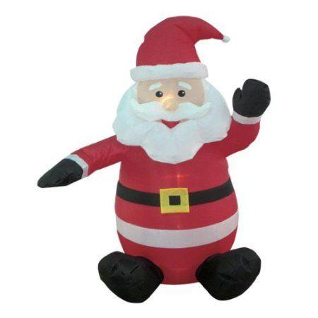 4 Foot Christmas Inflatable Santa Claus Yard Decoration Outside