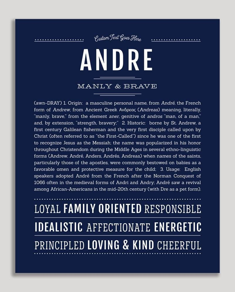 Andre | Classic Name Print | baby names | Classic names