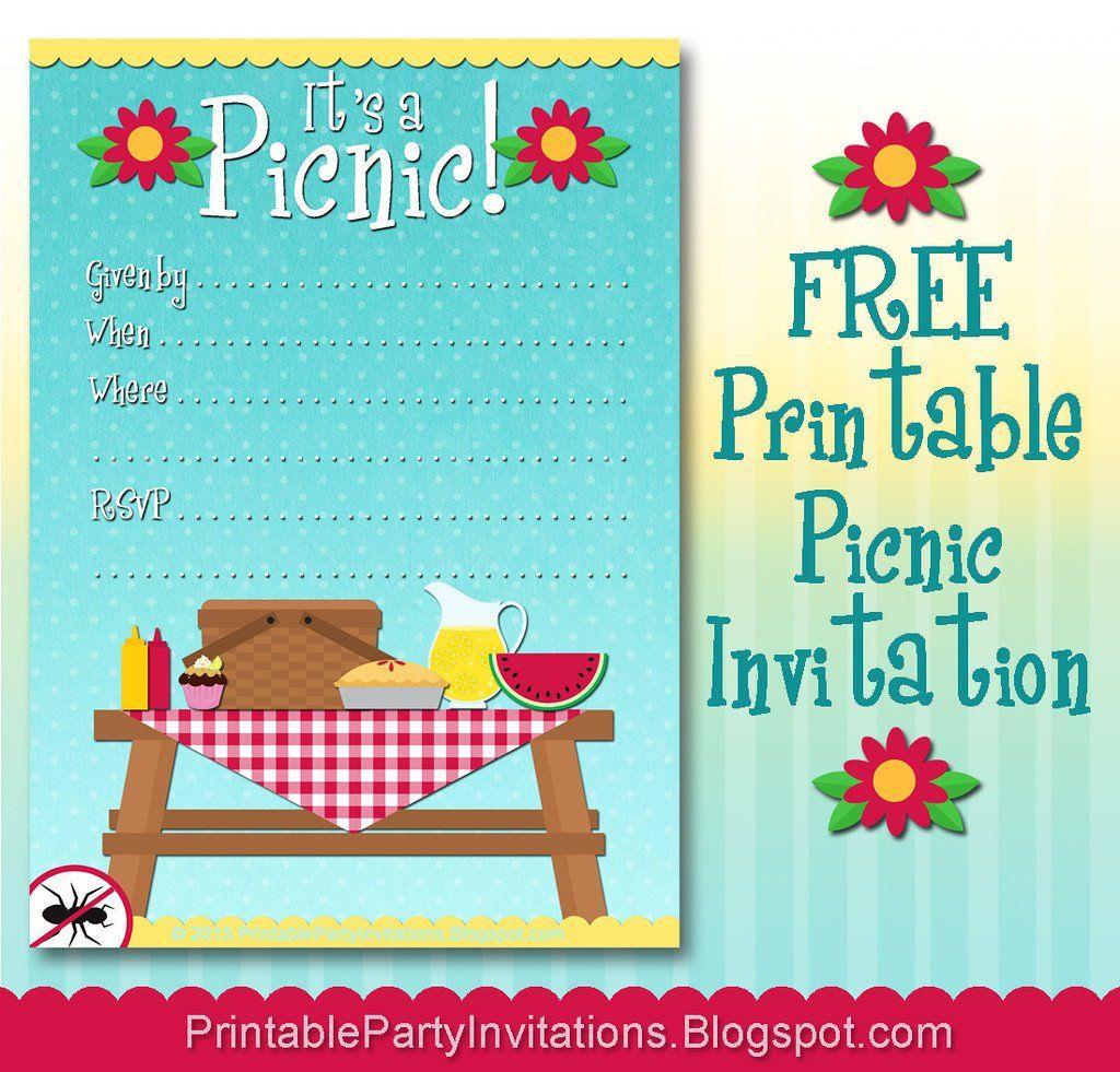 Free Downloadable Picnic Invitation Template Free Printable Picnic Invitation Party Invite Template Picnic Invitations Bbq Party Invitations Company picnic flyer template free