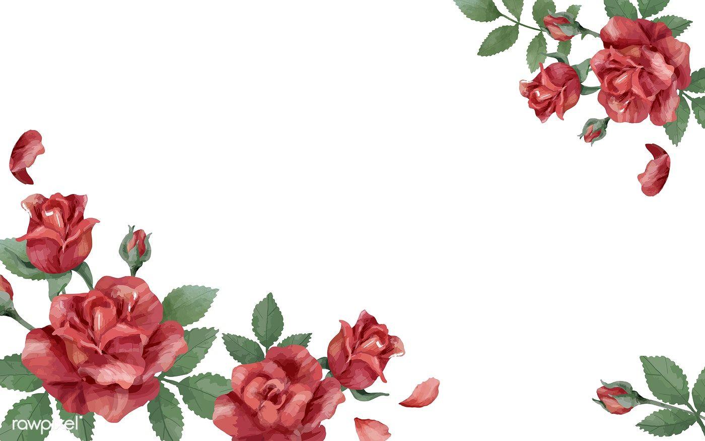 Download Premium Vector Of Invitation Card With A Red Color Scheme 466729 Paper Background Design Red Color Schemes Floral Border Design