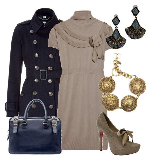 Estilo Formal by outfits-de-moda2 on Polyvore featuring moda, Moschino, Burberry, Zara, Chanel and Kara by Kara Ross